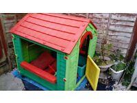 Children's garden playhouse