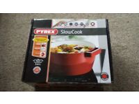 Pyrex Slow Cook Casserole Pan Round 3.6 L Cast Stainless-Steel Red