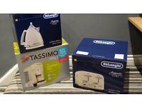 De Longhi cream toaster & kettle & tassimo coffee machine
