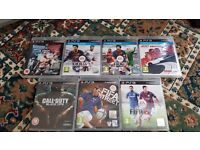 Slimline Sony 500GB Playstation 3 For Sale With 2 Controllers and 7 Games