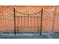 Black wrought Iron bed headboard