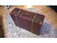 Large Vintage Edwardian Suitcase