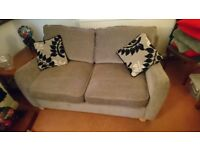 Sofa bed and matching armchair - hardly used - great condition