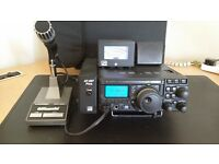 YAESU FT-897D HF/VHF/UHF & 50MHZ INCLUDED AT-897 PLUS ATU, LDG METER and KENWOOD MC60 DESK MIC