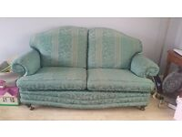 Free 3 seater Sofa + throw and cushions pick up only