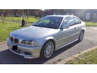 2002 Silver BMW 330Ci 3.0 M Sport Coupe Tiptronic Auto with Sat Nav/Sunroof