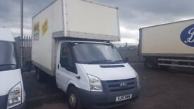 2010 -10 plate transit 125-350 extended frame hi capacity luton box van with tailift plus vat