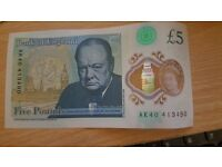New £5.00 note for collecters