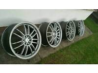"18"" alloys. 5x100/5x112 vw audi seat skoda"