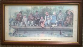 The Fishing Beat - Nine Compleat Anglers Vintage Large Print and Original Frame