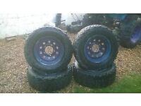 set of 4 off road tyres