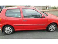 VW Polo 1.4 CL, 3 door hatchback, manual, petrol, 2000 reg. W78OCC, 65000 mileage, red.