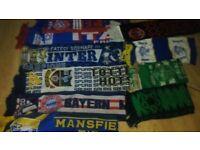 30 x football scarf collection spurs bayern ajax inter milan celtic man utd coventry