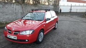 Nissan Almera 1.5 Pulse (Flame Red) 2003 full year M.O.T.