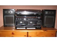 Sanyo stereo twin cassette dual midi system W10