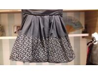 Skater Skirt By Jones & Jones Black with Lace Trim