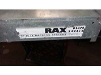RAX metal van roof pipe box