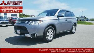 2015 Mitsubishi Outlander ES 4WD - only $162 BW in June!