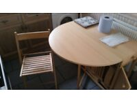 Folding table and chairs