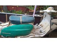 lambretta spanish li for restoration or rustoration import with nova original paint
