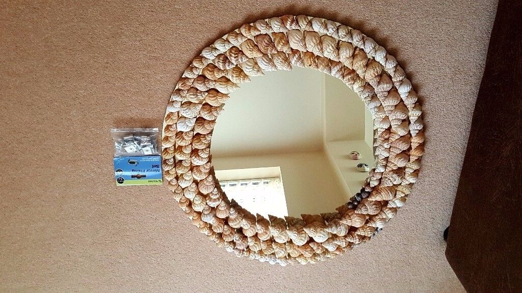 Circular Shell Mirror