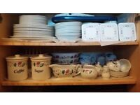 BHS Priory dinner set and tableware