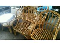 Wicker/cane conservatory furniture