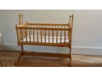 Baby Swinging Crib with Mattresses and Cover Set; Not used more than 4-5 times.