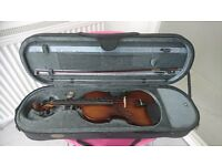4/4 VIOLIN , CASE & BOW for sale
