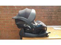 Stokke BeSafe iZi Go X1 Black Melange Car Seat+BeSafe ISO Fix Base - Fantastic Condition
