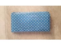 Cath Kidston Travel Document Wallet Light Blue Spotty