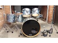 6-Piece Pacific Drums and Percussion (PDP) CX Maple Drum Kit in Blue Onyx