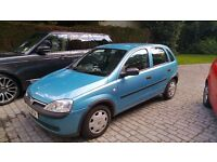 Vauxhall Corsa 2001. Excellent runner with full history.