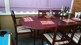 Dining table .chairs