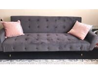 2 sofas 3 seater new grey colour excellent condition used for 2 months