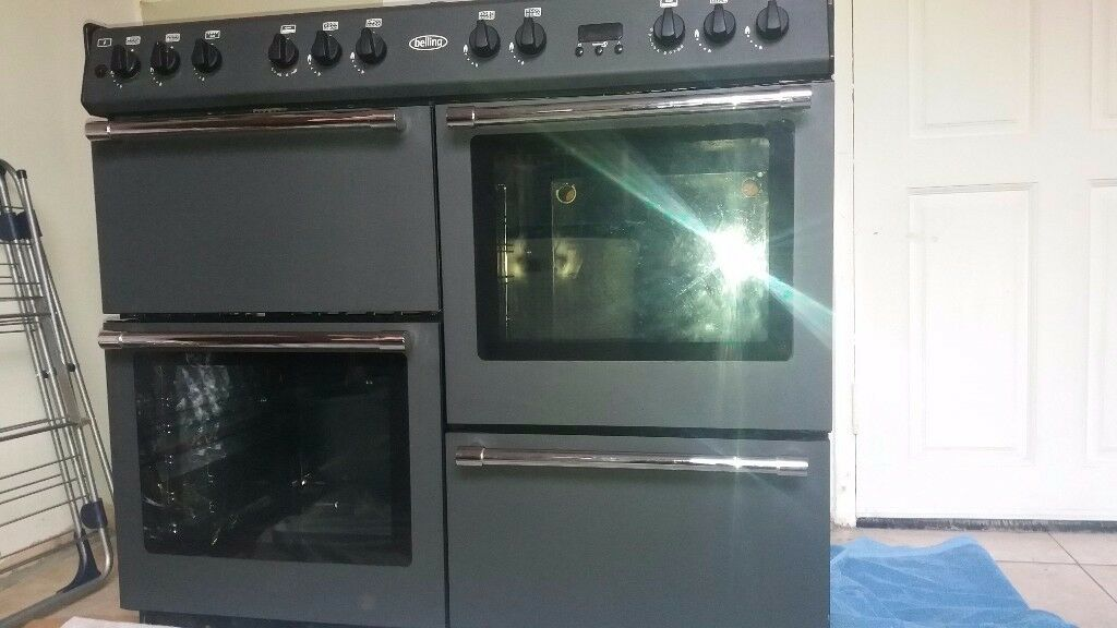 belling full gas range cooker anthracite in colour