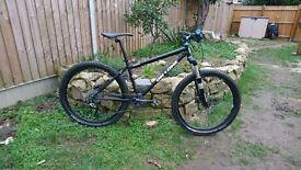 OnOne Inbred Mountain Bike Black Medium (16 inch) Hardtail Steel Rockshox Custom Build MTB