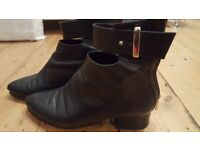 back real leather ankle boots slim fit