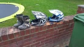 Kids mx helmets