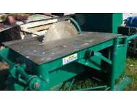 Diesel Bench Saw. Make Gabro with Lister diesel engine. Fully refurbished ready to work..