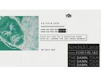 Kendrick Lamar DAMN Tour x2 Seated Tickets O2 Arena London Monday 12th Feb
