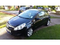 VAUXHALL CORSA BLACK STUNNING CAR FULL MOT AND SERVICE
