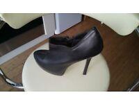 Faux leather black Linzi heels