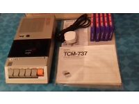 SONY CASSETTE-CORDER + 5 tdk-90's, boxed as new with manual,cables
