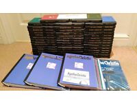 Collection of Agatha Christie Books, Set of 44 Plus Magazine and Folders