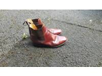 Loakes tan leather Chelsea boots (size 8)