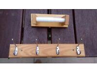Redwood Standard Hat & Coat Hook - 4 Hooks & Toilet Roll holder - FREE