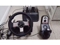 Logitech G27 Racing wheel, w/ Foot pedals and Gear shifter (PC)