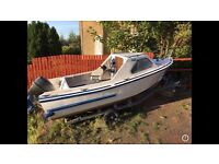 18 ft fishing boat and trailer