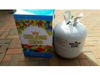 Empy hellium gas cylinder